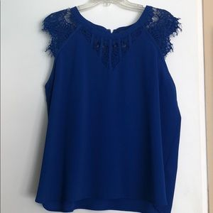 Blouse with lace detail